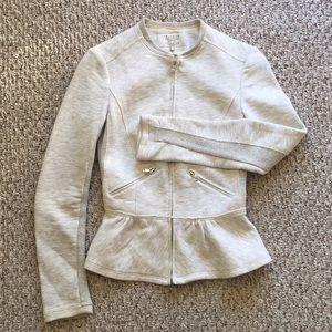 Zara sweatshirt blazer with peplum